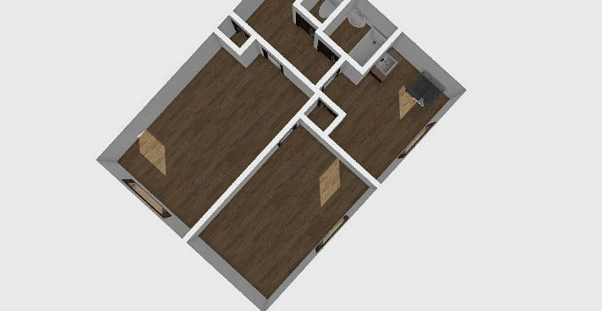 2-комн_0144 Interior Design Render
