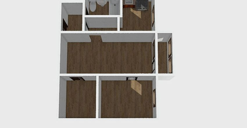 2-комн_008_2 Interior Design Render