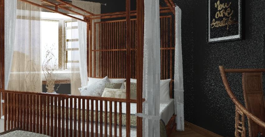 Master Bed and Bathroom Suite Interior Design Render
