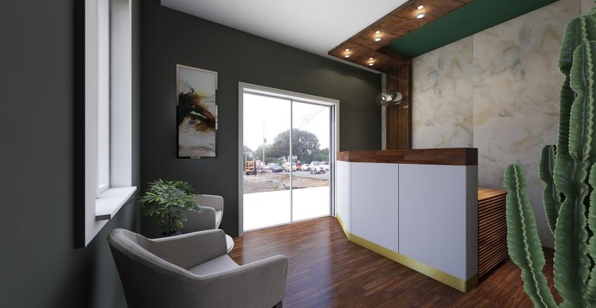 Recepción de Oficina IngeoCaribe Interior Design Render