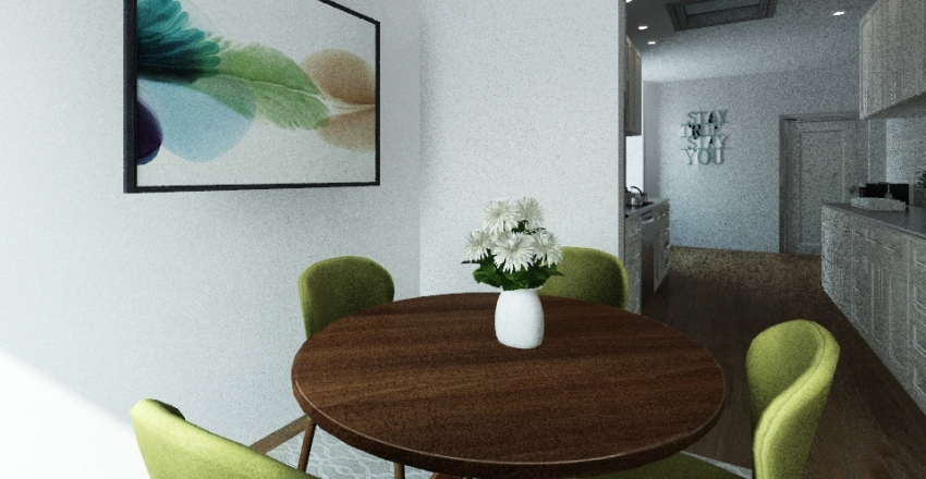 green house Interior Design Render