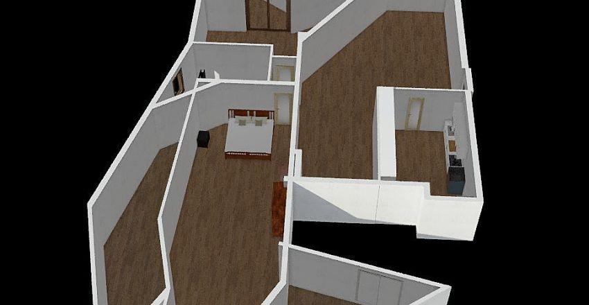 weird house Interior Design Render