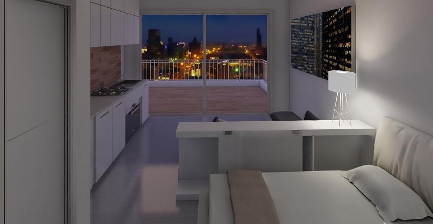 Agias zonis Athens Penthouse Interior Design Render