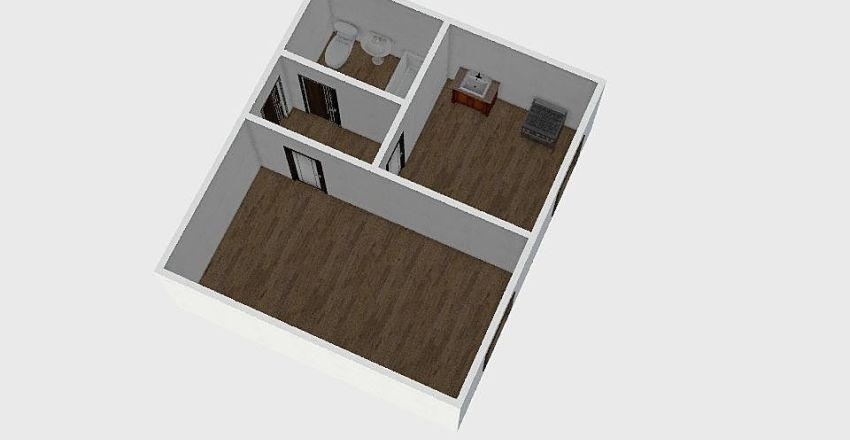 1-комн_003 Interior Design Render