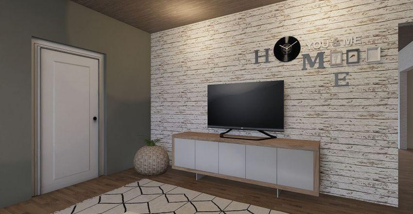 Casa com conceito aberto Interior Design Render
