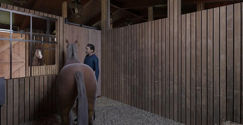 stable Interior Design Render