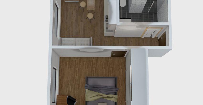 soukenicka 1+1 Interior Design Render