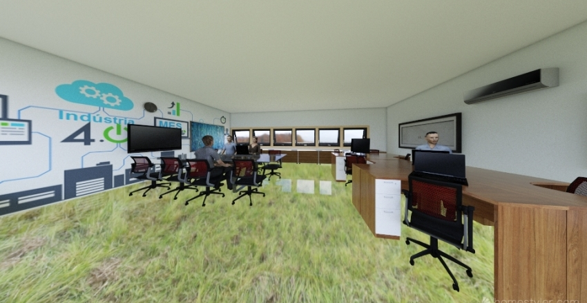 """Draft sala especialistas opção """"A"""" Interior Design Render"""