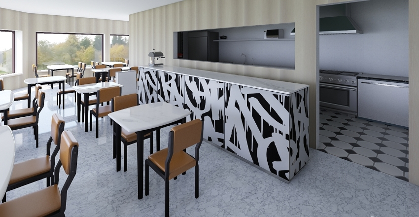Dos Estaciones Planta baja Interior Design Render