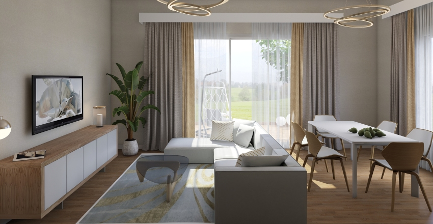 apartment number 1 Interior Design Render