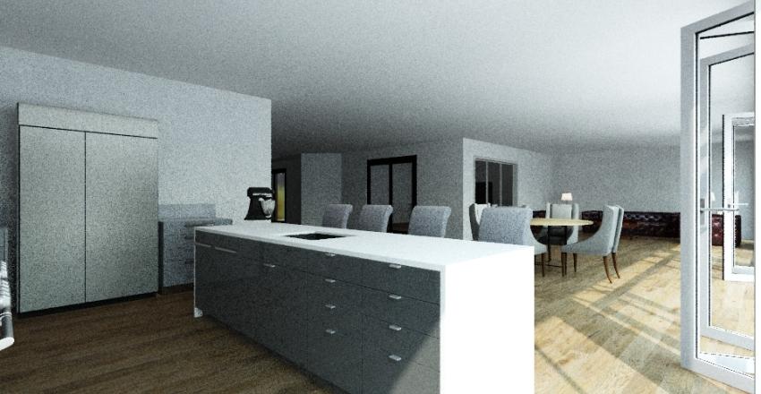 Quonset plan Interior Design Render