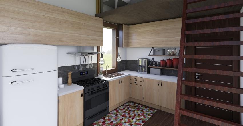 Off-Grid Tiny Home Interior Design Render