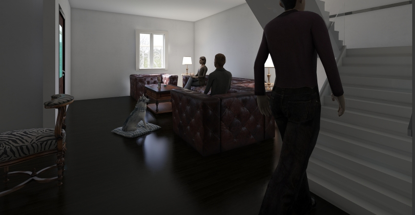 Casa Lia 1er Piso Interior Design Render