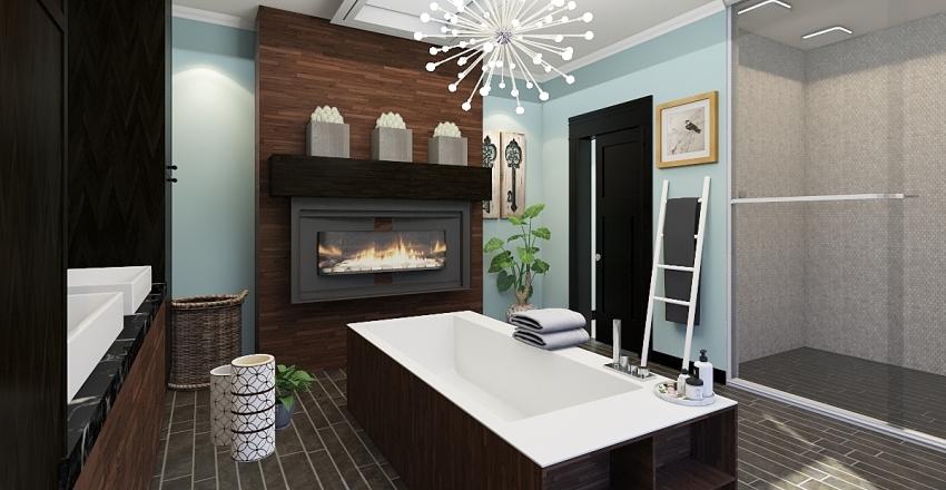 Modern Bath Interior Design Render