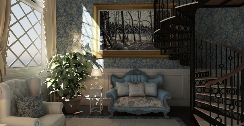 Victorian Parlor Interior Design Render