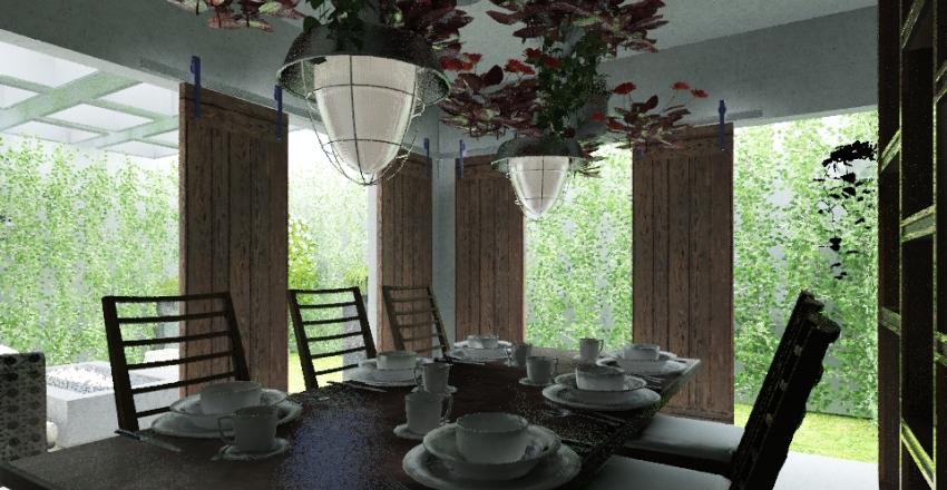 city apartment terrace Interior Design Render