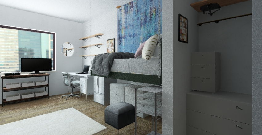 HawkHall (Mar + Jor) Interior Design Render