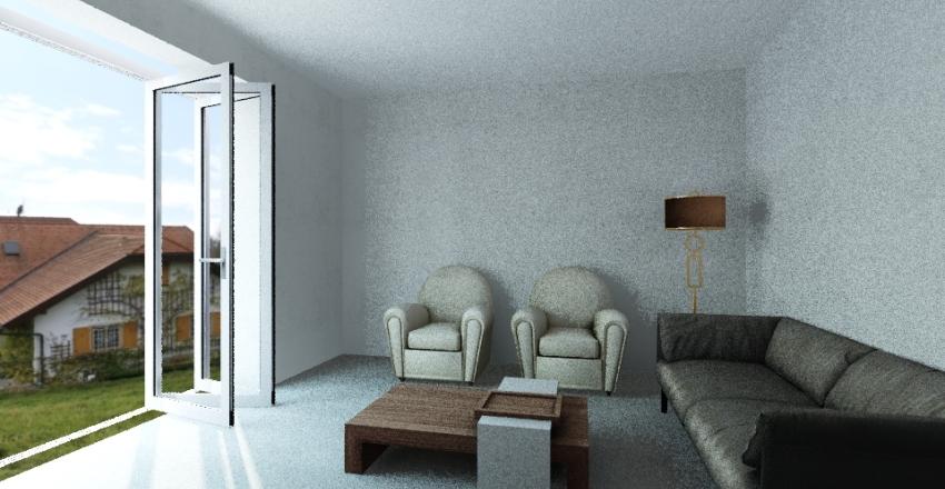 living one Interior Design Render