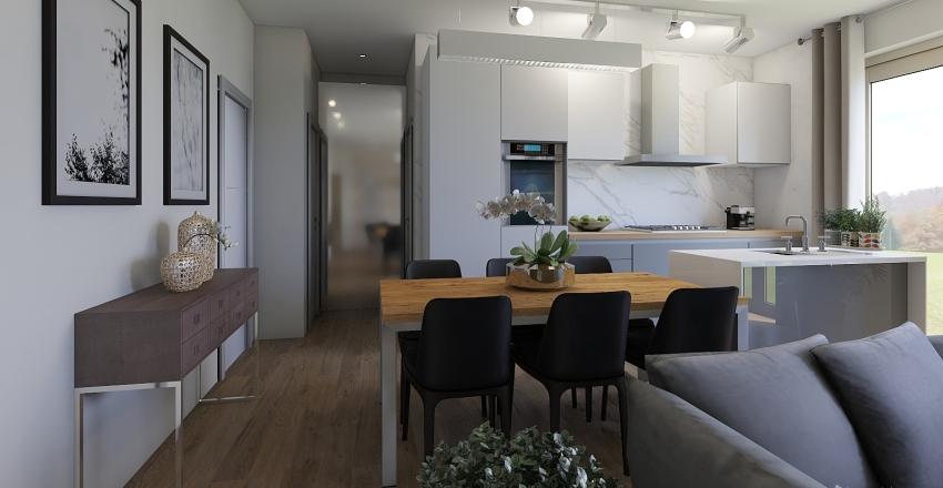 mix industrial Interior Design Render