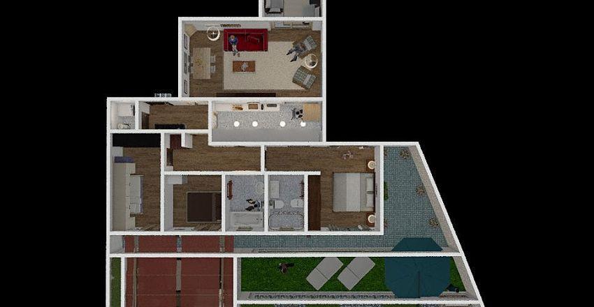 LES TONYINES 3 Interior Design Render