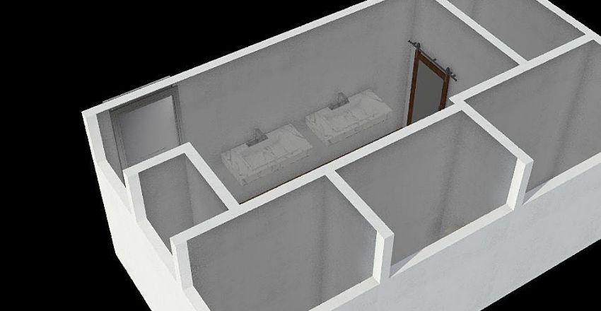 F baño tercer piso  Interior Design Render
