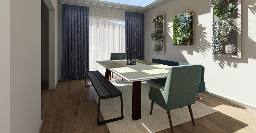 Living & Dining Room Interior Design Render
