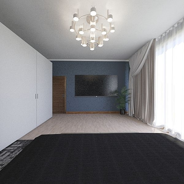 Dark  Interior Design Render