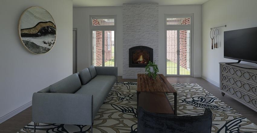 Colonial Farmhouse Interior Design Render