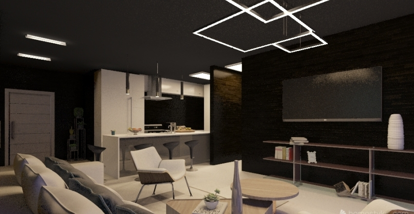 Downtown Condo Interior Design Render