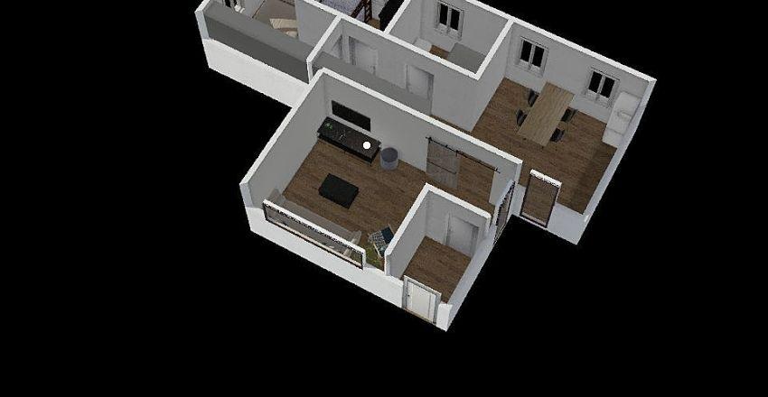 container Interior Design Render