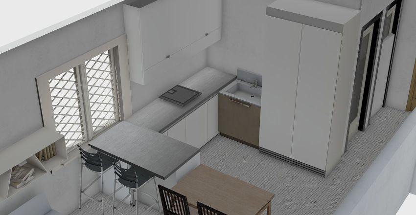 Byt bory - bar+stol nove rozmery Interior Design Render