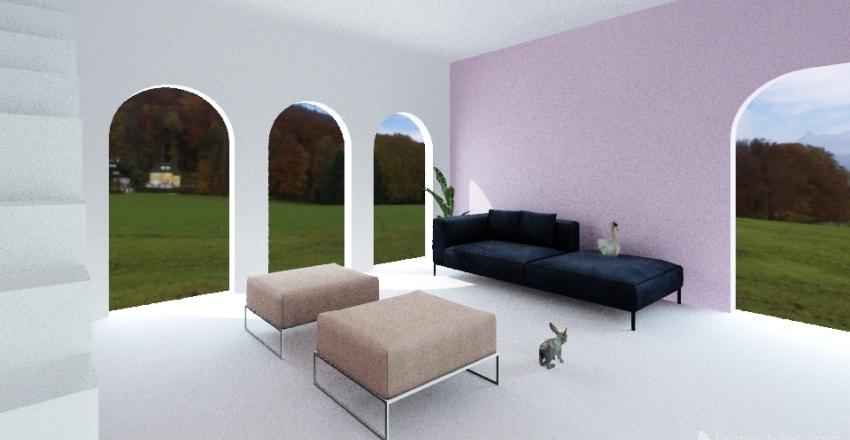 Pink Space  Interior Design Render