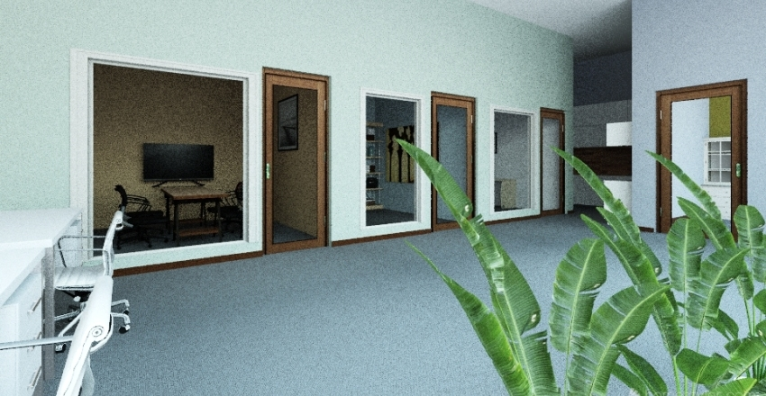 bhc office with new walls Interior Design Render