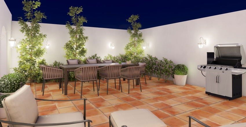 Casa Mediterranean  Interior Design Render