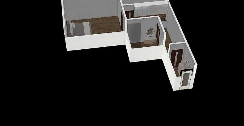 2+1 Malenovice Interior Design Render