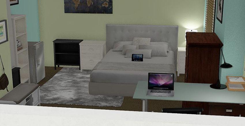 Sarah's Room Interior Design Render