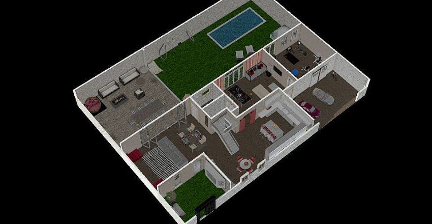 dream's home 2^floor Interior Design Render