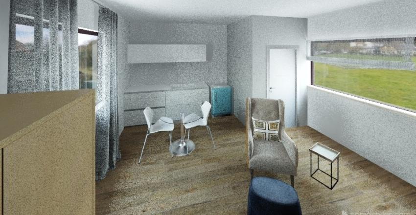 Winston's Studio Apartment Interior Design Render