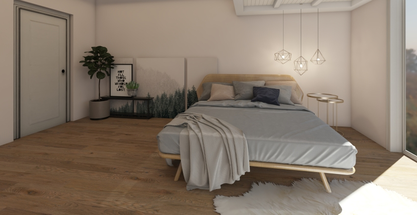 Girl's Bedroom Interior Design Render