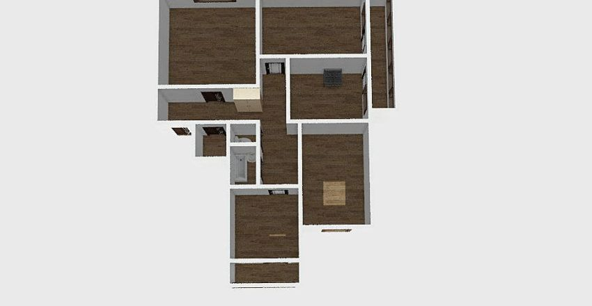 4-комн_053 Interior Design Render