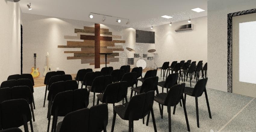 GCBC Dark Blue Floor Interior Design Render