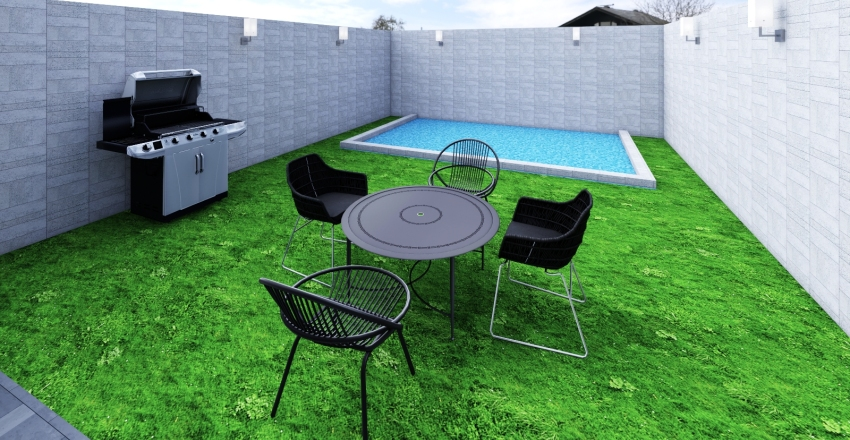 Long house Interior Design Render