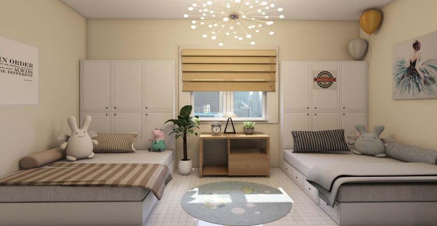 kids room Interior Design Render