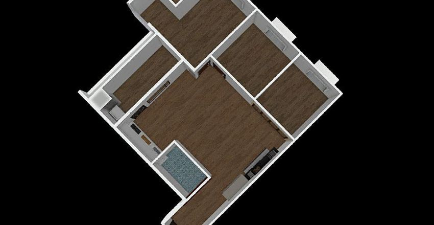 御中央3-7F、B戶 Interior Design Render