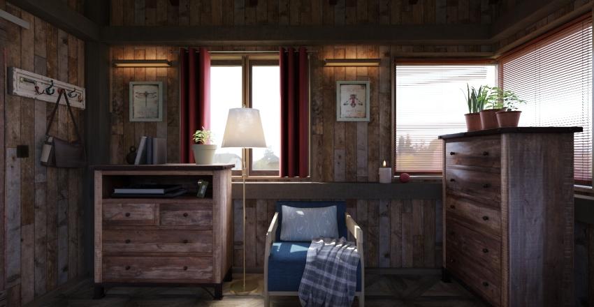 Cozy Cabin Interior Design Render