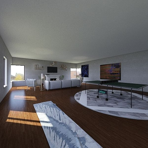 Family Room 1 Interior Design Render
