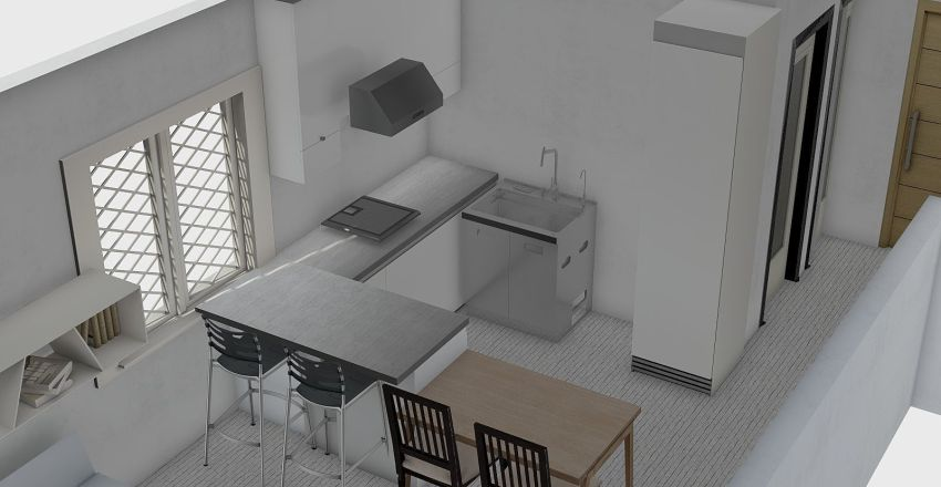 Byt bory - bar+stol uzke Interior Design Render