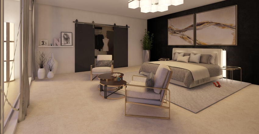 mziko's bedroom Interior Design Render