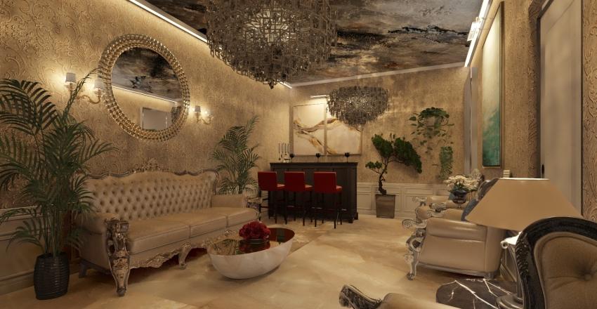 lounge Interior Design Render
