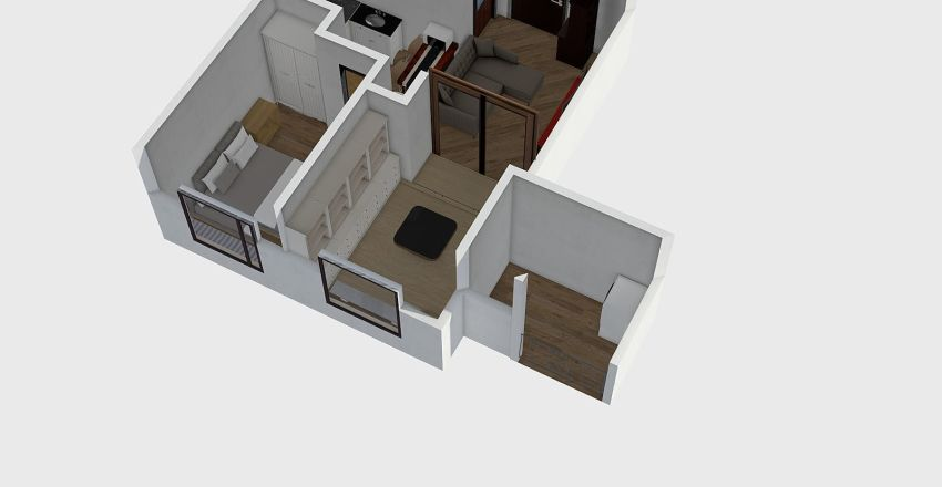 21.27坪_合室變大冰箱外移 Interior Design Render
